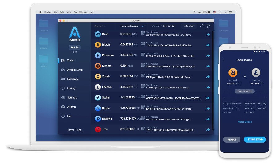 atomic wallet Multiple cryptocurrency wallets
