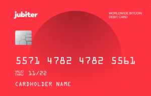 Jubiter Bitcoin debit card