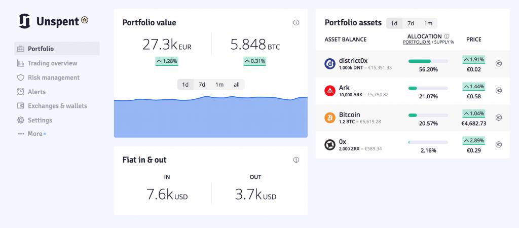 unspent crypto portfolio tracker