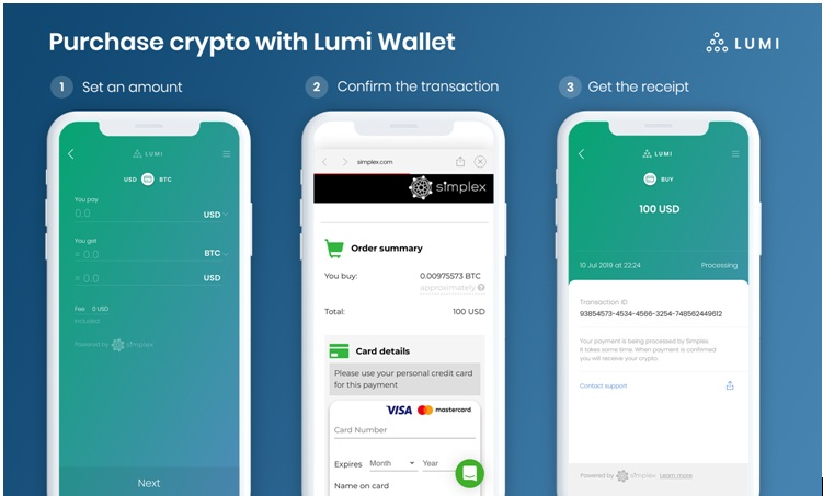 simplex lumi wallet but bitcoin