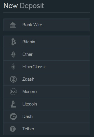 bitfinex deposit options