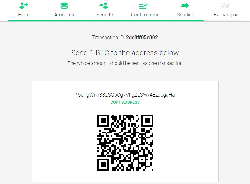 changelly - how to convert coin instantly