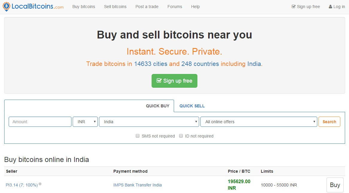 Localbitcoins review - Buy bitcoin face to face locally