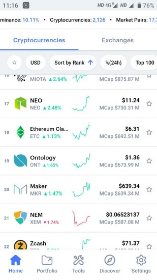 best cryptocurrency portfolio app 2019