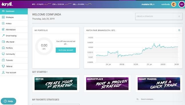 kryll - bitcoin trading bot
