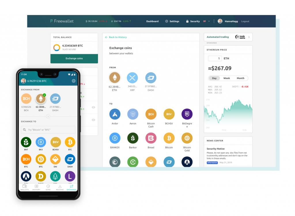 Crypto to crypto exchange