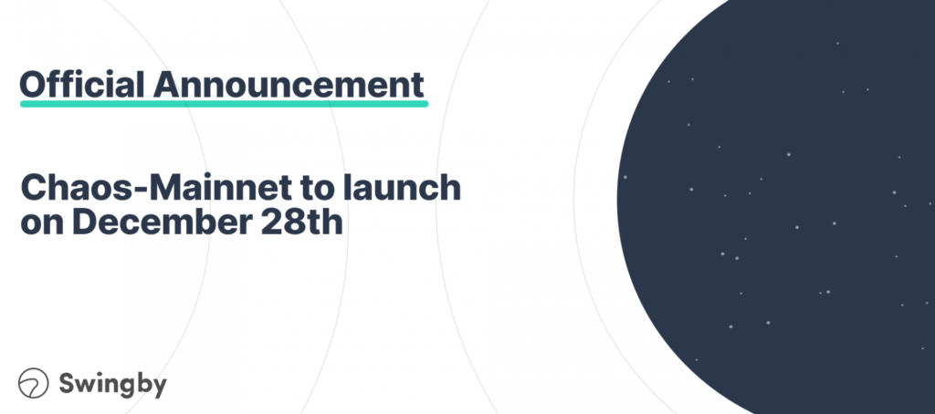 Ready for Chaos? Swingby's Chaos-Mainnet Launches on December 28th 1