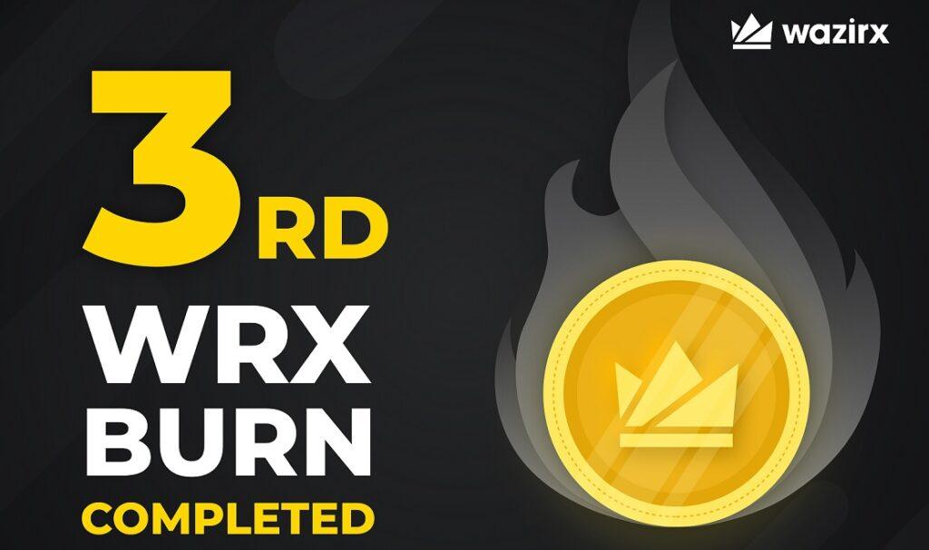 wazirX 3rd burn