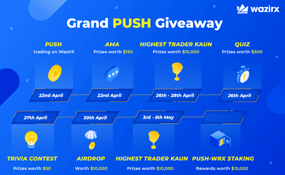 PUSH listing giveaway