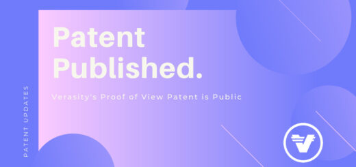 Verasity Receives Notice Of Allowance For Second Proof Of View Patent 2