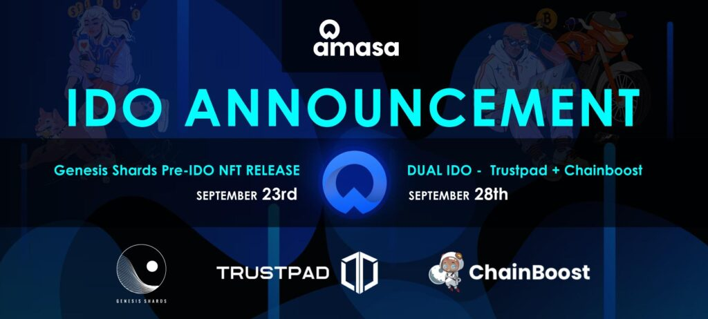 Amasa Announces Dual IDO on Trustpad and Chainboost on September 28 1