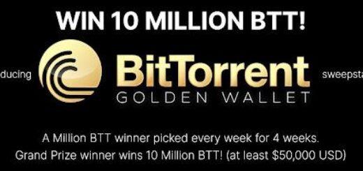 BitTorrent Announces Golden Wallet Sweepstakes 10 Million Btt Giveaway 9